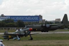 Як-9, взлет C-130 Gercules