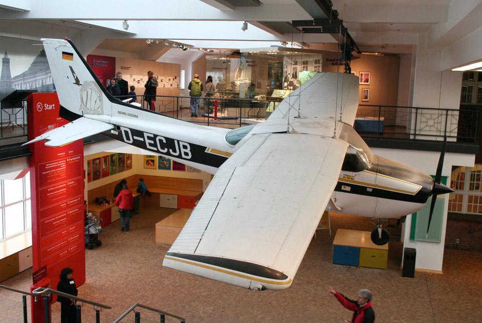 Самолет Матиаса Руста в Берлинском техническом музее