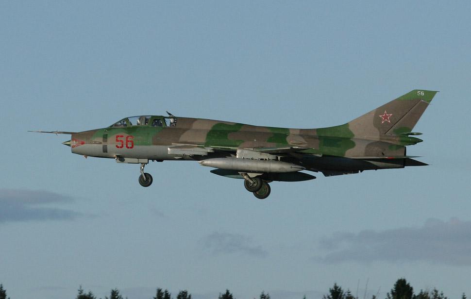 Посадка Су-17УМ3 в Чкаловском