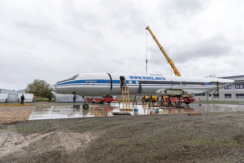 Сборка Ту-134 в Германии Фото с сайта part-ex.ru