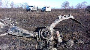 Фрагмент винта бомбардировщика Пе-2 подняли из болота в Приморском крае.