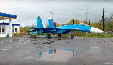 В Тверской области установили Су-27
