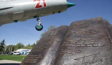 Памятник М.Попович установлен в Подмосковье