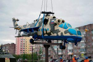Установка Ми-24 в Новом Уренгое