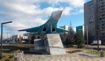 Памятник Су-27 в Ростове